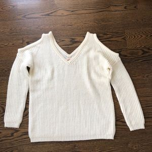 white v-neck sweater from ambiance